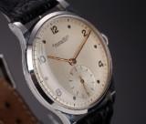 Vintage IWC Schaffhausen men's watch, steel, silver-coloured dial, c. 1945