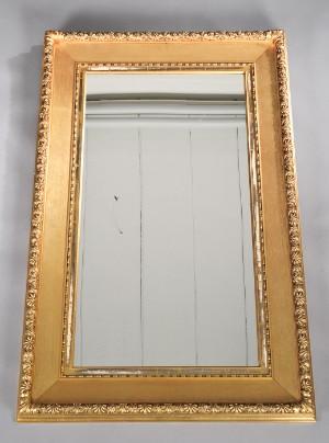 spejl med guldramme Stort spejl med guldramme | Lauritz.com spejl med guldramme