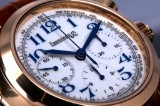 Eberhard & Co. 'Vanderbilt Cup Chronograph'. Men's watch, 18 kt. rosé gold with original stap and clasp