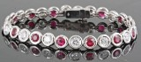 Diamond and ruby bracelet in 18kt approx. 2.80ct