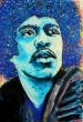 Flör, acrylic on canvas, 'Jimi Hendrix haircut'