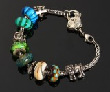 Troldekugle armbånd, sterling sølv og glas (11)