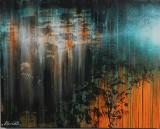 Ubekendt kunstner. Acryl på lærred. 80x100 cm.