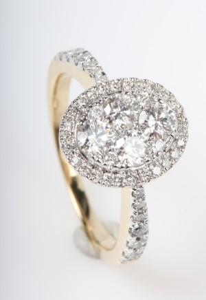 ringe brillantring med diamanter fra diamonds by frisenholm 14 kt guld 1 0 ct. Black Bedroom Furniture Sets. Home Design Ideas