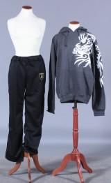 Sort Lamborghini pants samt grå Hoodie hættetrøje. Str. L (2)