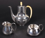 Svend Weihrauch for F. Hingelberg. Coffee set, sterling silver (3)