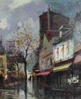 Fernandez Garcia Gardes, Acryl auf Leinwand, 'Paris'