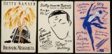 Aage Sikker Hansen m.fl. Tolv små teaterplakater, overvejende 1930-40'erne (12)