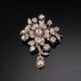 A large diamond brooch, 2.80 ct. c. 1860-1880