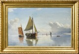 Carl Frederik Sørensen, oil on canvas, marine