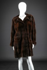 Sheared mahogany mink, size 38-40. Labelled Birger Christensen