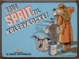 Enamel sign, 'Brug sprit i kølervædsken'