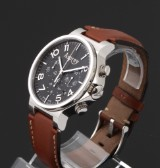 Asprey 'No. 8'. Men's chronograph, steel with original strap and clasp