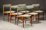 Dansk møbelproducent, spisestole, palisander (6)