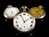 Zenith. Vintage herrelommeur af sølv. (3)