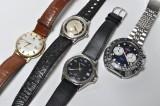 Samling ure; Tissot, Certina, Alpina og Lanco (4)
