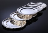 Carl M. Cohr. Set of silver service plates (6)