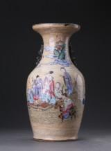 Kinesisk vase af porcelæn, 1800-tallet sidste halvdel