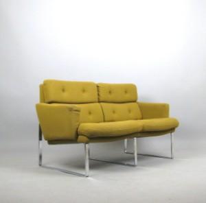 Flachstahl lounge sofa der 1960 70er jahre for 70 er jahre couch