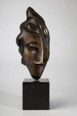 Ati Gallwitz, Bronzeskulptur 'Mit Gefühl', 2000