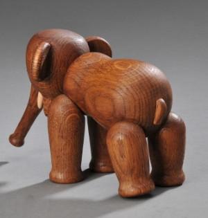 9fb001a5bc17 Kay Bojesen. Elefant af egetræ