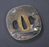 Japansk tsuba, midt Edo, formentlig 1700-tallet