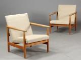 Ejvind A. Johansson. Par lænestole, egetræ, FDB (2)