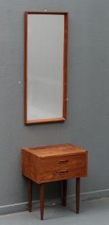 Dansk møbelproducent: Kommode og spejl - teaktræ (2)