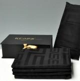 Fire sengesæt af 100% kæmmet bomuld med 400 jacquard trade. Keops Collection, farve: sort (8)