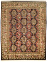 A hand-knotted Persian carpet, wool and silk, Tabriz 390 x 300 cm