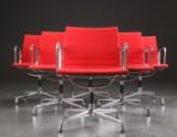 Charles Eames. Six chairs, model EA 108 (6)