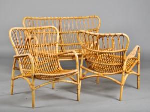 kurvemøbler Sæt kurvemøbler af bambus (3) | Lauritz.com kurvemøbler