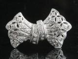14kt diamond brooch/pendant approx. 0.41ct