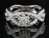 Diamond ring in 18kt approx. 1.10ct