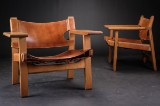 Børge Mogensen. A pair of lounge chairs, 'The Spanish Chair', model 2226 (2)