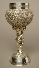 Alexander Schönauer, an Art Nouveau goblet, 800 silver