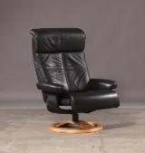 Dansk møbelproducent, lænestol, sort skind