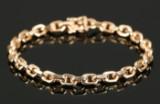 Armbånd af 14 kt guld, ankerkæde