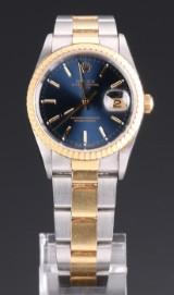 Rolex Date men's watch, 18 kt. gold and steel