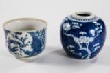 Skål med krukke, porcelæn, Kina, 1700-tallet/1800-tallet (2)
