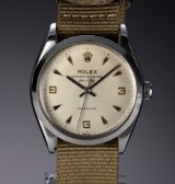 Rolex 'Air-King Precision'. Vintage men's watch, steel, with silver-coloured dial, c. 1965
