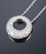 Chaumet. Diamond necklace, 18 kt. white gold, total approx. 1.25 ct