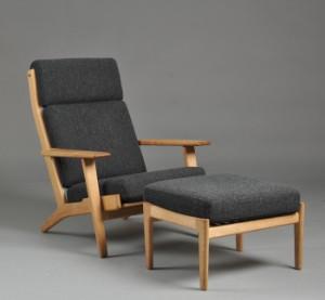 ware 3014468 hans j wegner sessel mit hoher r ckenlehne. Black Bedroom Furniture Sets. Home Design Ideas