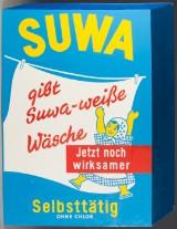 Advertising sign 'Suwa', sheet metal, approx. 1950