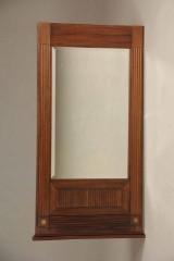 Facetslebet spejl med træramme, 1800/1900 tallet