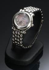 Chopard Happy Sport, damearmbåndsur med diamanter