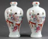 Par kinesiske vaser med figurer (2)