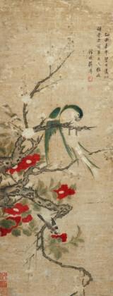 Jiang Pu. Chinese painting, dated 1740