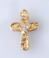 Arne Blomberg, unique pendant, 18k gold with diamonds, 0.08 ct