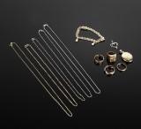 Diverse smykker af guld 14 kt. og 18 kt. (12)